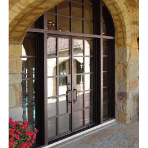 Sz-D028 Fench Style Iron Double Entry Door with Transom and Sidelites pictures & photos