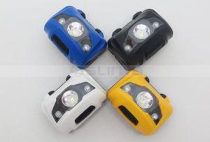 Waterproof 400 Lumens 3W LED Color Mini Red White Sos Cap Lamp Headlight Headlamp Head Lamp (1118b) pictures & photos