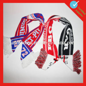 Knitting Jacquard Promotional Football Fan Scarf pictures & photos