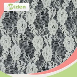 Customized Embroidery Nylon Tricot Wrap Knitted Lace Fabric pictures & photos