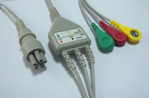 Colin Bp88s 6pin IEC Snap&Clip 3 ECG Cable pictures & photos