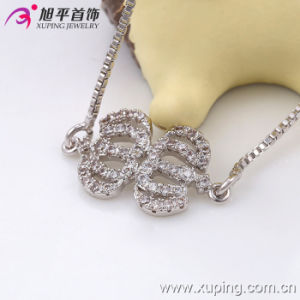 Xuping Elegant Rhodium Color Micro Pave Pumpkin Shaped Bracelet (73679) pictures & photos