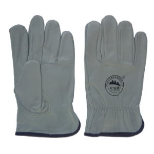 Cowhide Leather Safety Drving Working Gloves pictures & photos