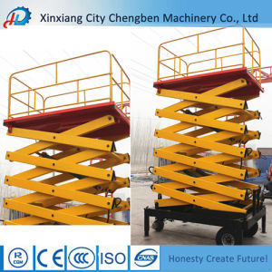 Construction Lift Used Hydraulic Scaffolding with Safe Guardrail pictures & photos