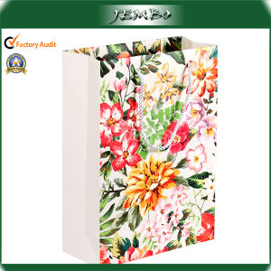 OEM Flower Offset Printing Beautiful Paper Promotion Bag pictures & photos
