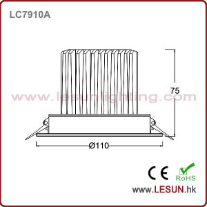 New Product 10W LED Recessed Downlight LC7910A pictures & photos