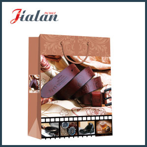 Matte Laminated Ivory Paper M′s Belts Shopping Gift Paper Bag pictures & photos