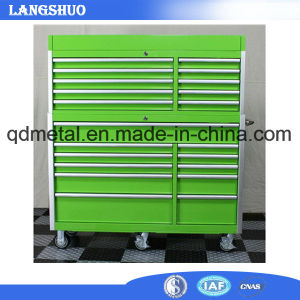 Tool Chest Green Cabinet Metal Tool Boxes with Wheels pictures & photos