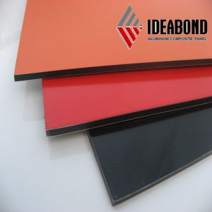 Ideabond Glossy Aluminum Composite Panel ACP Cladding Wall with Red Color Coating Building Material for Interior Decoration pictures & photos