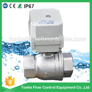 "1 1/2"" 110V 220V 230V Stainless Steel Motorized Ball Electric Valve Dn40 pictures & photos"