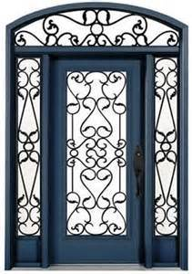 Residential Wrought Iron Single Door (UID-S049) pictures & photos