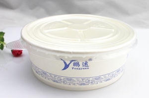 Disposable Paper Bowl with Lid for Take Away, Disposable Hot Soup Paper Bowl pictures & photos
