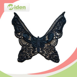 Ladies Elegant PU Fashion Design Collar Lace pictures & photos