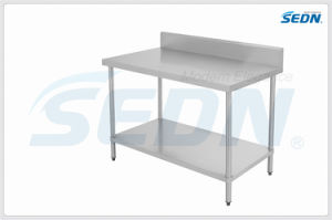 Handmade Commercial Stainless Steel Splashback Work Benches (MT4004) pictures & photos