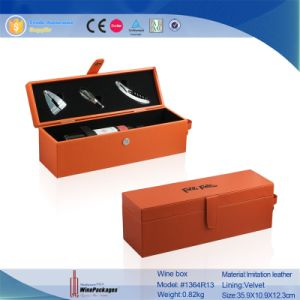 High Quality Custom Luxury Leather Wine Carrier Gift Box pictures & photos