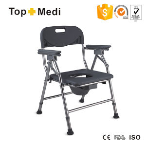 Medical Foldable Bathroom Elderly Toilet Commode Chair Commode Wheelchair pictures & photos