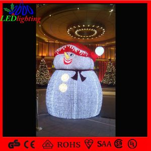 3D Acrylic Christmas LED Snowman Acrylic Light for Shopping Mall pictures & photos