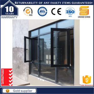 Aluminum Cladding Grills Casement Window with High Quality pictures & photos