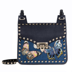 Fashion Jeans Trendy rivet lady shoulder bag(JD-1E)