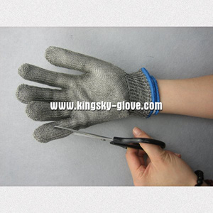 Double Layer Metal Mesh Cut Resistance Work Glove pictures & photos