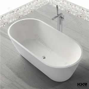 Italian Acrylic Solid Surface Freestanding Stone Bathtub pictures & photos