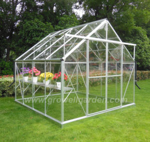 Solid Polycarbonate Clear Greenhouse Double Sliding Door (E808) pictures & photos