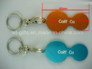 Personalized Metal Trolley Token Keychains