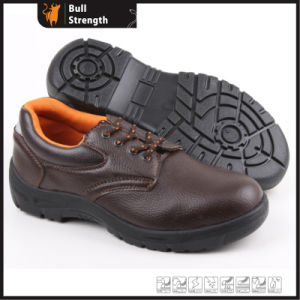 Industrial Leather Safety Shoes with Steel Toe and Steel Midsole (SN5257) pictures & photos