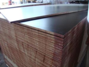 Brown Film Face Shuttering Plywood Poplar Core Faced Plywood at Market Price pictures & photos