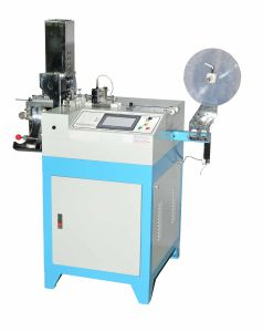 Numerical Controlled Ultrasonic Printed Label Angle Cutting Machine (HY-868) pictures & photos