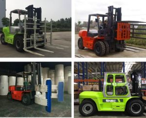 10 Ton Capacity Forklift Fork Lift Diesel Cabin pictures & photos