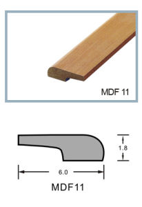 Ck MDF Wood Skirting Basrboard Wrapped PVC Foil for Wooden Flooring pictures & photos