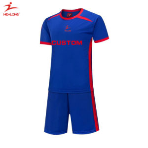 Healong Custom Red Soccer Unifroms Sportswear Cool Max Sublimation Soccer Jersey pictures & photos