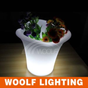 Plastic Flower Pot Custom Flower Pot LED Clear Flower Pot pictures & photos