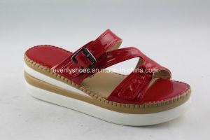 Open Toe Flat Heel Sandal Lady Silpper Women Shoes pictures & photos