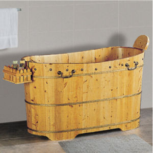 Sanitary Ware Bathroom Wooden Soaking Hot Tub (006C) pictures & photos