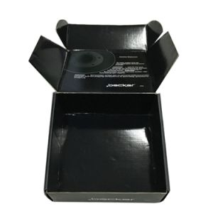 Logo UV with Matt Black Printed Corrugated Shipping and Packing Box pictures & photos