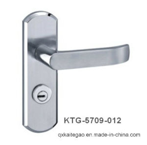 Stainless Steel Satin Finish Modern Door Handle on Plate (KTG-5709-012) pictures & photos