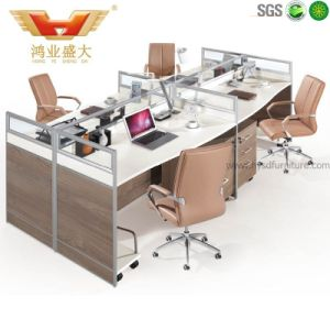 Hot Sale Modern Office Workstation for 4 Person (HY-P08) pictures & photos