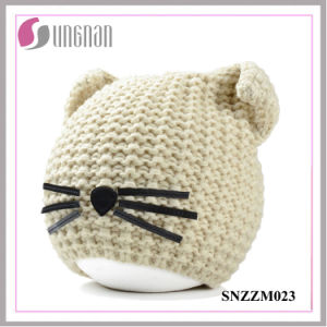 2016 Winter Warm Creative Cat Ear Hat Wool Knitted Helmet (SNZZM023) pictures & photos