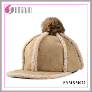 Korean Warm Lovely Hiphop Hat Plush Fur Ball Flat-Brimmed Cap (SNMXM022) pictures & photos