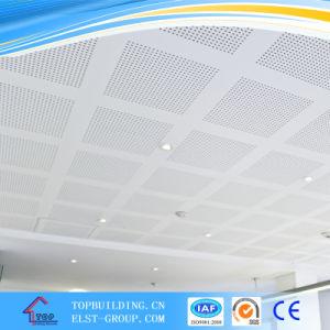 PVC Laminated Gypsum Ceiling Tile 600*600*9mm/PVC Perforated Gypsum Ceiling Tile pictures & photos
