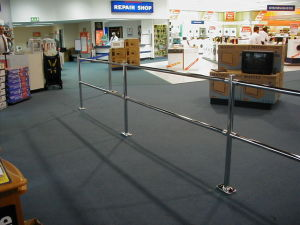 Metal Chrome Barriers, Security Barrier pictures & photos