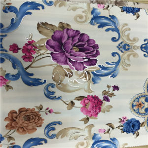 High Quality Polyester Fabric Flower Printed Fabric pictures & photos