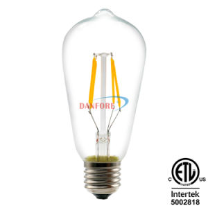 Glass Cover AC85-265V St64 S21 Vintage LED Filament Bulb with E27 Base