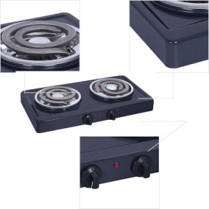 Stainless Steel Portable Double Burner Electric Coil Stove pictures & photos