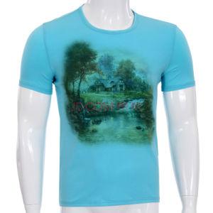 Fashion 3D Printed Cotton Men T-Shirt (ZT026) pictures & photos