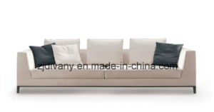 Italian Style Wooden Leather Sofa 3 Seats Sofa Fabric (D-68-D) pictures & photos
