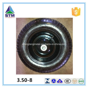 Qingdao Pneumatic 3.00-8 Rubber Tire for Trolley Wheelbarrow Wheel pictures & photos