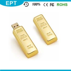 Metal Stick Golden Bar Shape Custom Logo USB Pendrive (EM540) pictures & photos